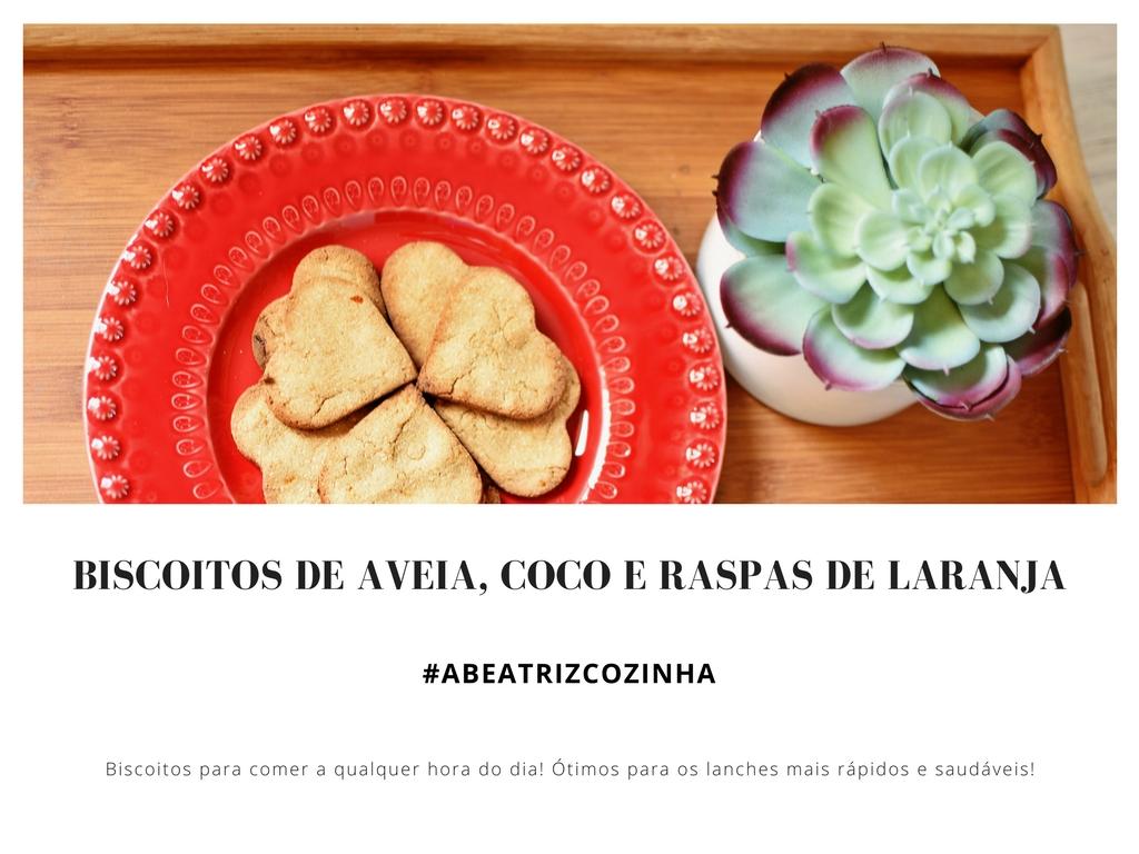 #ABEATRIZCOZINHA | Biscoitos sem açucar nem farinha! |