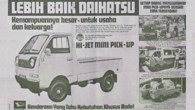 iklan mobil jadul Daihatsu Hijet S38 Indonesia