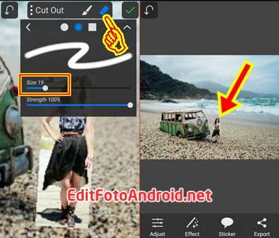 edit foto jadi kecil pake picsay pro