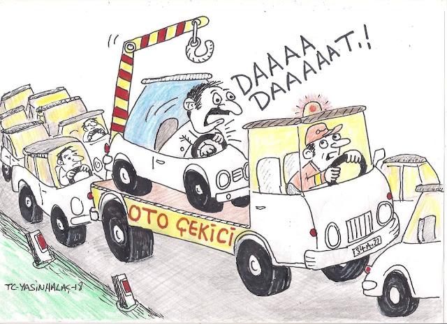türkiye'de trafik karikatürü