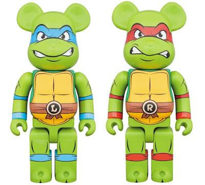 Teenage Mutant Ninja Turtles Leonardo & Raphael 400% Be@rbrick Vinyl Figures by Medicom