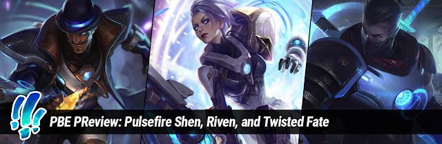 Resultado de imagem para shen, riven and tf pulsefire