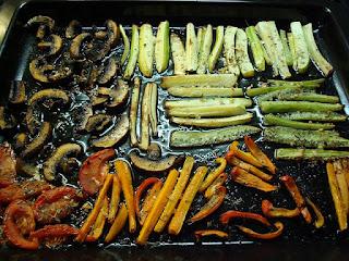 apéro: légumes marinés, grillés à la plancha ou au bbq