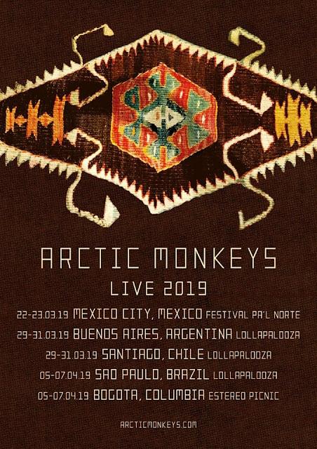 ARCTIC MONKEYS ANUNCIA FECHAS EN MÉXICO (AHORA SÍ)