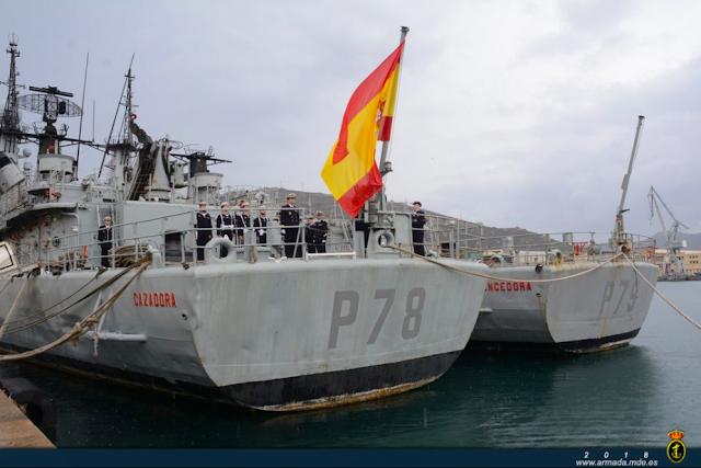 """El patrullero """"Cazadora"""" P-78 causa baja tras 36 años en la Armada"""