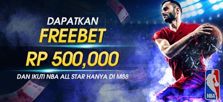 Freebet 500 Ribu hanya di NBA All Star M88