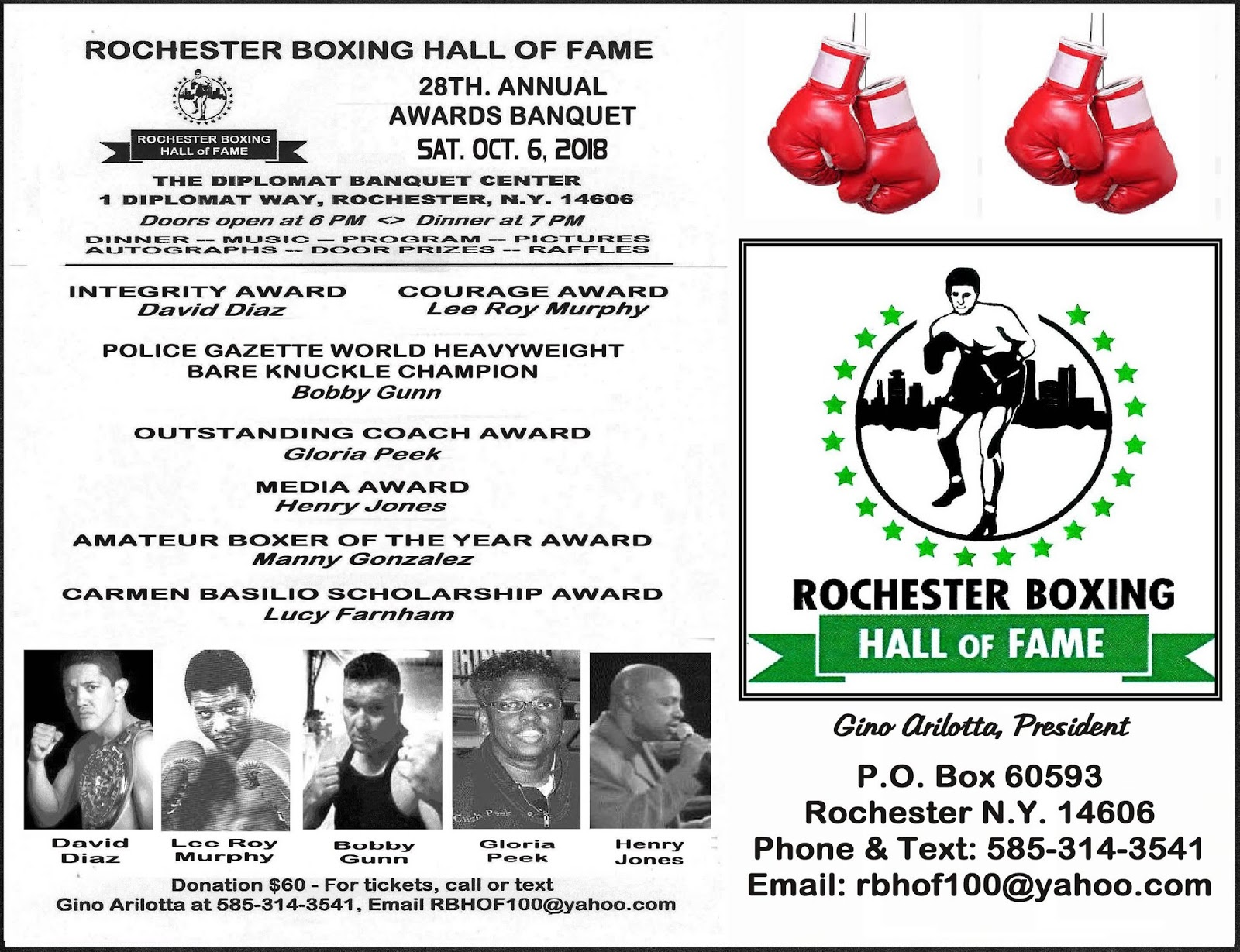The Weigh-In: Rochester Boxing Hall of Fame