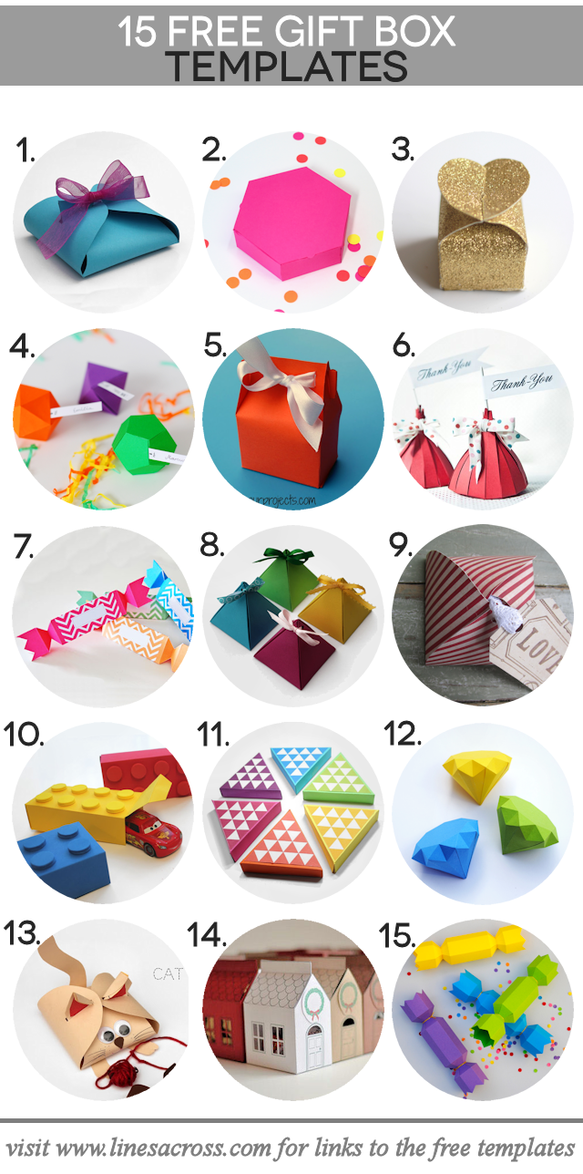 15 FREE Gift Box Templates. The perfect little boxes for those perfect little gifts.