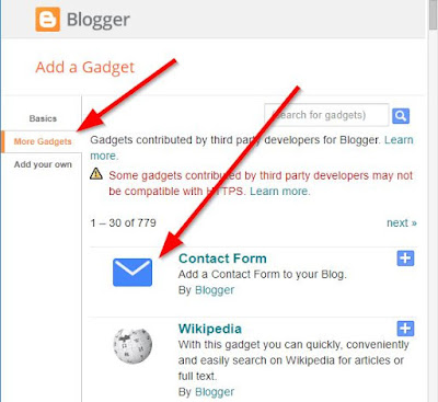 Blogger Contact Us Page