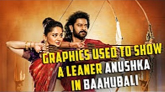 Graphics used to show a leaner Anushka in Baahubali