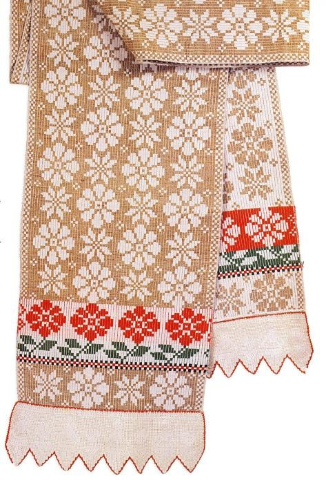 Hand embroidered ritual towels from Belarus