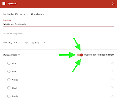 Create a question in Google Classroom™   www.traceeorman.com