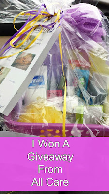 Gift Basket Win In Giveaway From All Care.