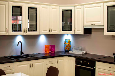 Wall mounted kitchen cabinets