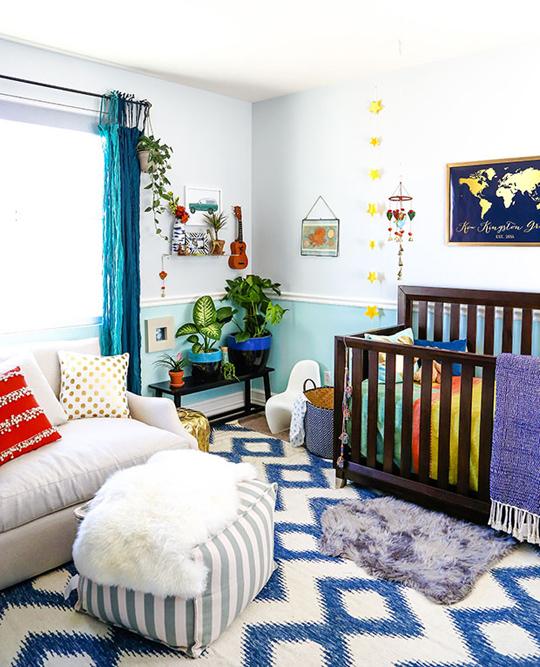 nursey in blue spectrum design