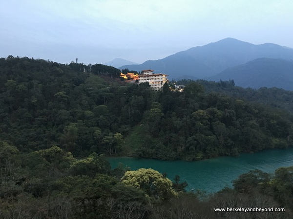 evening at Sun Moon Lake National Scenic Area in Yuchi Township, Nantou County, Taiwan