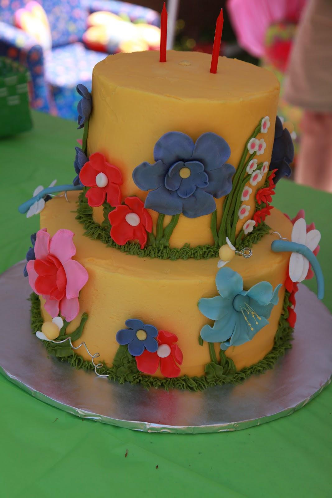 The Cake Box Girls Spring Garden Party Birthday Cake