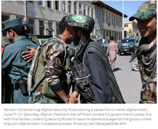 unarmed Taliban fighters were seen on the streets of Kabul