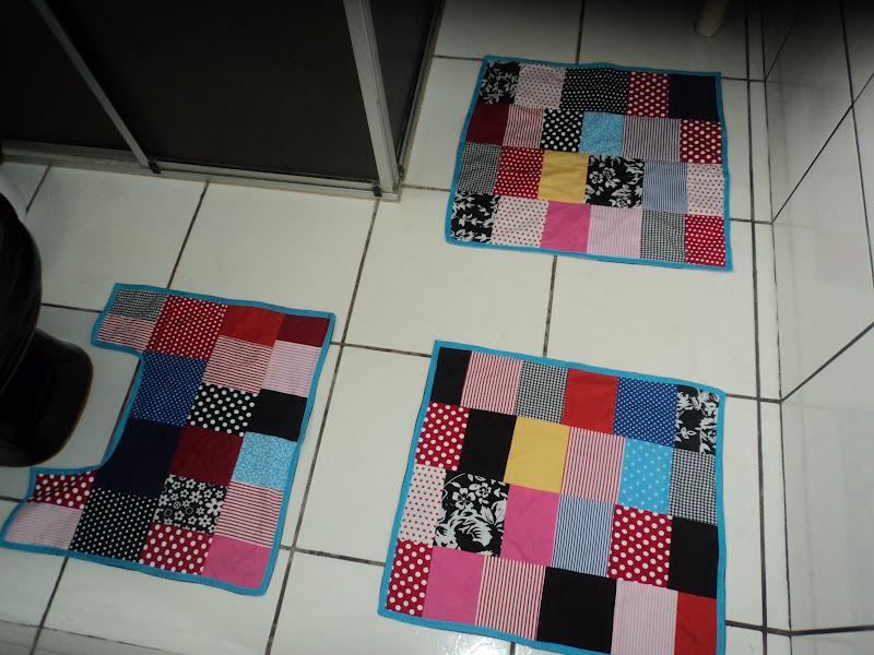 sofa rph white tufted leather set coisas do reino: tapete de banheiro em patchwork