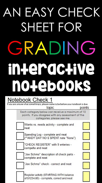 Do you love interactive notebooks but struggle to grade them? In this post I want to share a super simple plan and Excel check sheet for grading INBs that worked really well in my math classroom.