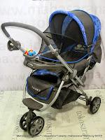 hadap belakang Kereta Dorong Bayi BabyDoes CH278 Parade-X Roda 3 Hadap Depan atau Belakang