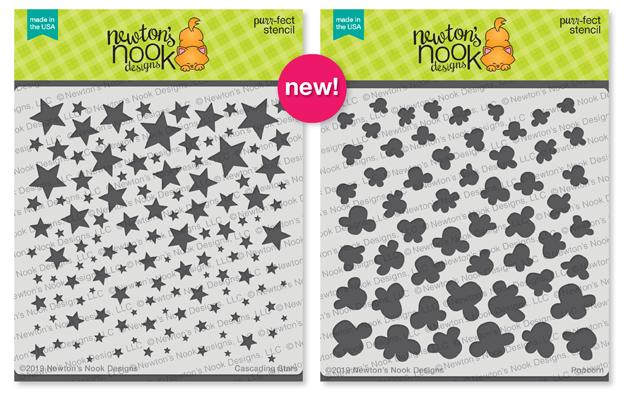 Cascading Stars and Popcorn Stencils Newton's Nook Designs #newtonsnook