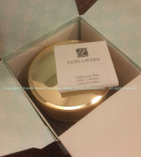 NightWear Plus Anti-Oxidant Night Detox Creme - ESTEE LAUDER, PERSONAL PRODUCT REVIEW AND PHOTOS - NATALIE BEAUTE