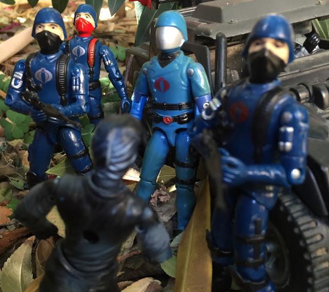1983 Cobra Commander, Cobra Trooper, 1984 Stinger, Black Major, Viper Pilot, 1998 Vypra