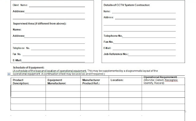 CCTV SYSTEMS      SAMPLE LAYOUT FOR SYSTEM DESIGN PROPOSAL