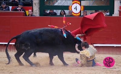 2018-03-11 cogida toro a torero roman valencia