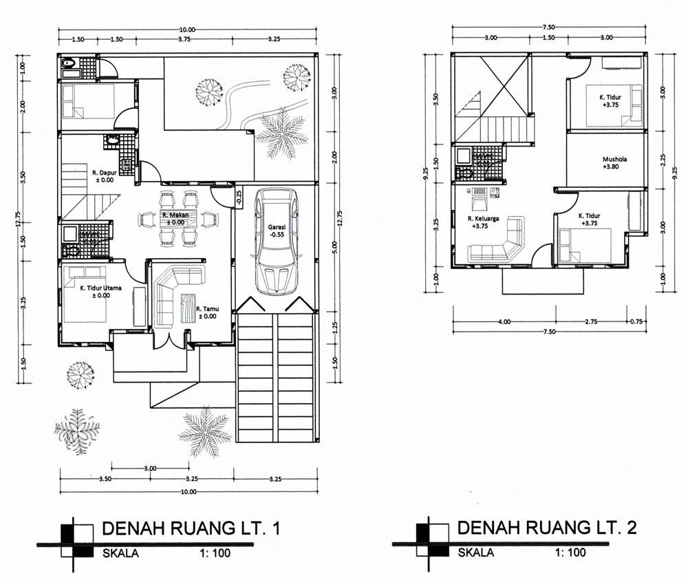 Image Result For Gambar Dan Denah Rumah Minimalis Kamar Tidur