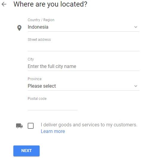 Lokasi Google Bisnisku