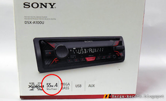 Ulasan Sony DSX-A100U FM USB Car Player