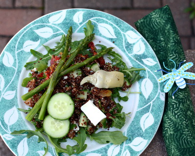 Red Quinoa Salad Your Way ♥ KitchenParade.com, a healthy grain salad, easy to modify based on what's in season and what's on hand.