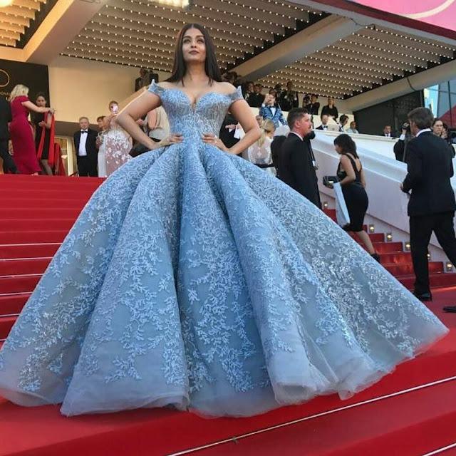 Resultado de imagem para Aishwarya Rai in Michael Cinco Cannes 2017
