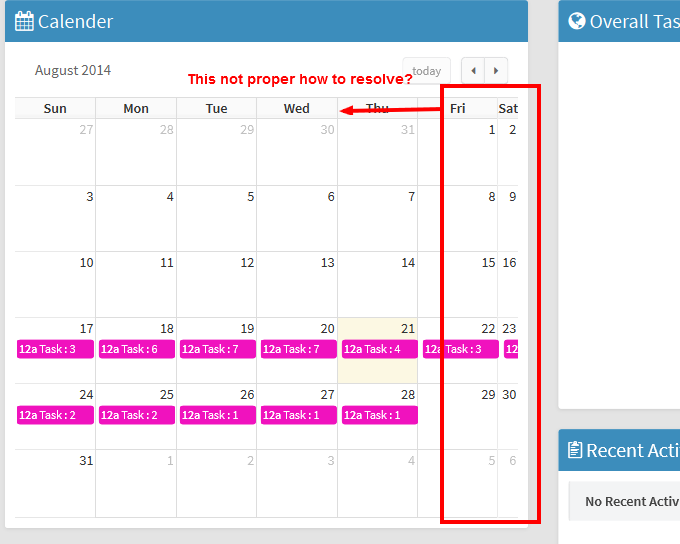 Web and Technology Support: Rendering Arshaw Fullcalendar in a tab