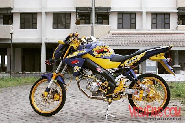 Vixion Jari Jari Warna Kuning Hitam Bali Style