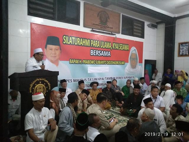 Hasil Istikharah Ulama dan Kyai, Jamaah Thoriqoh Syatoriyah Bulat Dukung Prabowo