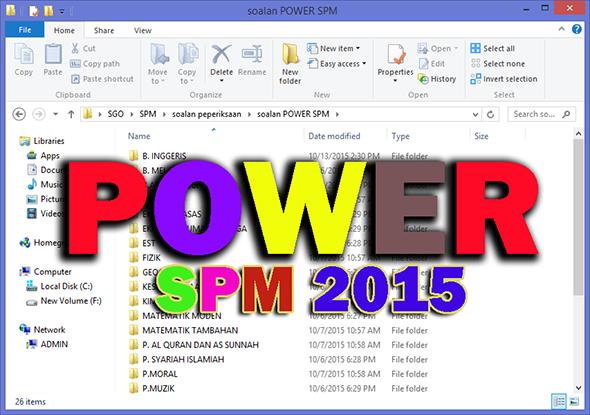 POWER SPM! Himpunan Soalan Trial 2015 B.Melayu Pecutan Akhir