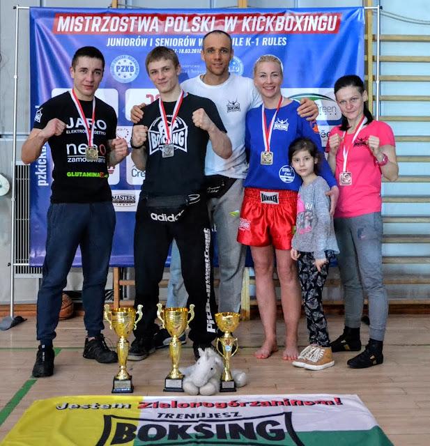 Mistrz Polski, sporty walki, k-1, Warszawa, 2018,sport,kickboxing,PZKB, Kacieja, Zimoch, Połoński, Czerwińska, Boś, Zielona Góra