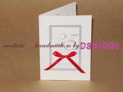 Invitatii Handmade By Danique 25 De Ani Nunta De Argint