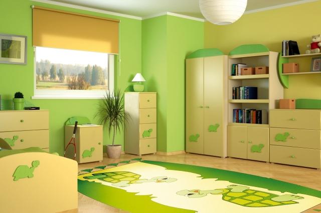 Dormitorio para ni os color verde dormitorios colores y estilos - Colores para dormitorios infantiles ...