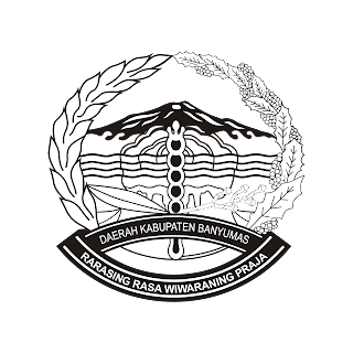 Logo Kabupaten Banyumas 1 warna black white vector