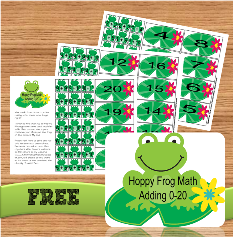 Addition Games = Free Hoppy Frog Math