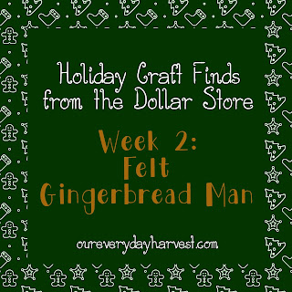 Gingerbread Felt Craft