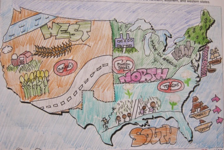 sectionalism student map