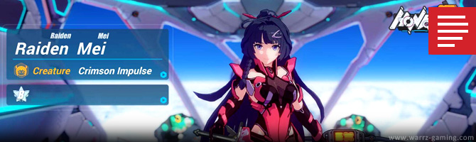 WARRZ GAMING: Honkai Impact 3 - Raiden Mei: Crimson Impulse