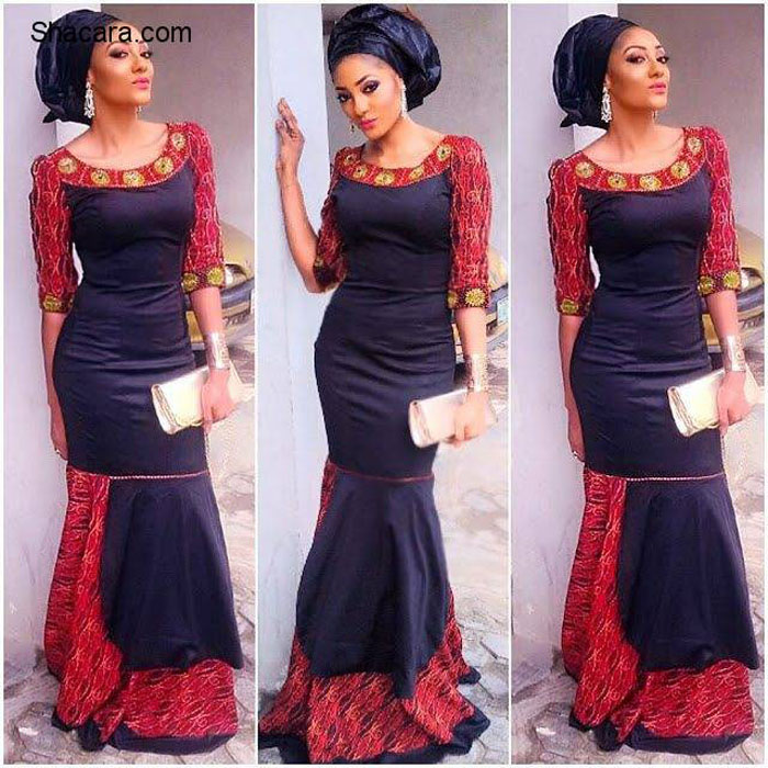 simply flowing ankara gown style