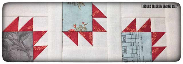 thistle thicket studio, bear's paw block, sewing quilting, row quilt