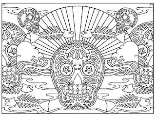 Mandalas de calaveras para el dia de muertos